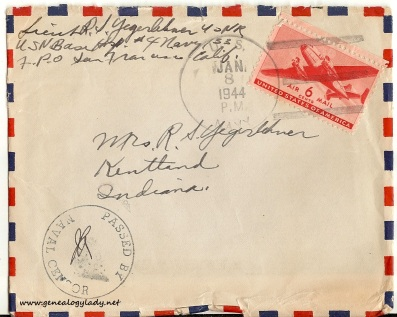 January 7, 1944 envelope