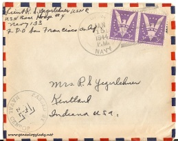 January 13, 1944 envelope