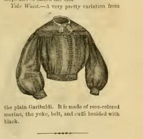 Garibaldi Shirt, Godey's Lady's Magazine, 1864