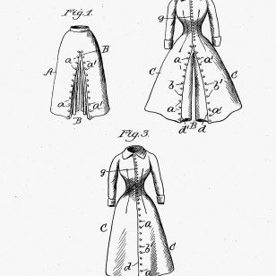 Riding Dress patent, 1898