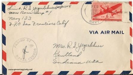 February 9, 1944 envelope