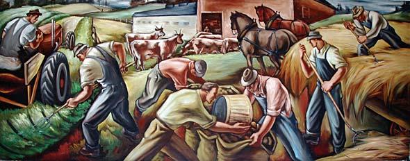 Carl Morris mural, 1942