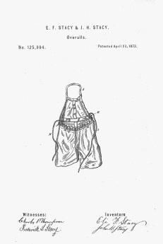 Overalls patent, 1872 (fishermen)