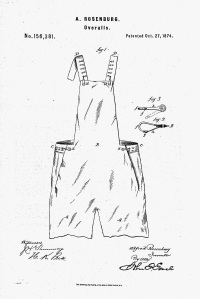 Overalls, patent 1874