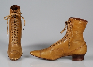 Boots, 1890s, after the lasting machine