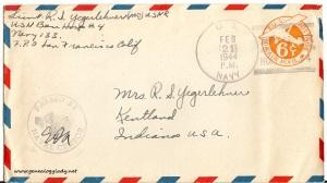 February 20, 1944 envelope
