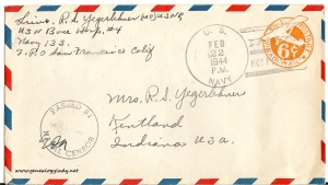 February 21, 1944 envelope