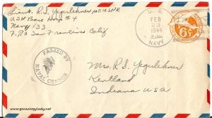 February 22, 1944 envelope