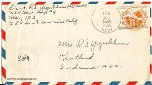 February 24, 1944 envelope