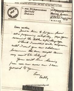 February 27, 1944 v-mail