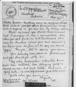 V-mail, dated March 15, 1944