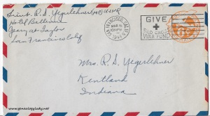 March 16, 1944 envelope