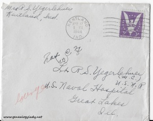 April 15 & 16, 1944 envelope