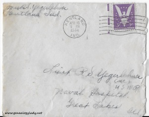 April 15, 1944 envelope