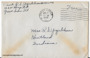 April 16, 1944 envelope