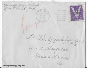 April 19 & 20, 1944 envelope
