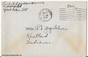 April 23, 1944 envelope