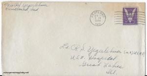 April 24 & 25, 1944 envelope
