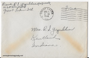 April 24, 1944 envelope