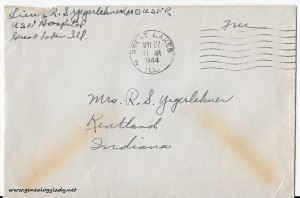 April 26, 1944 envelope
