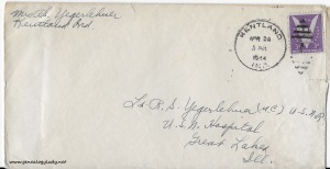 April 28, 1944 envelope