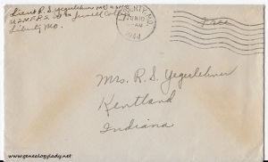 June 9, 1944 envelope