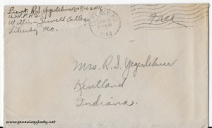 June 10, 1944 envelope