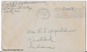 June 11, 1944 envelope