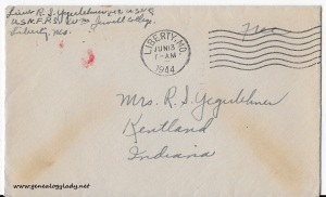 June 12, 1944 envelope