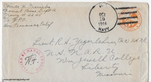October 18, 1944 envelope