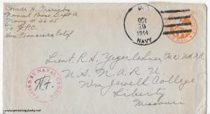 October 18, 1944 envelope