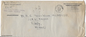 October 20, 1944 envelope
