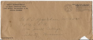January 14, 1945 envelope