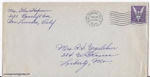 February 23, 1945 envelope