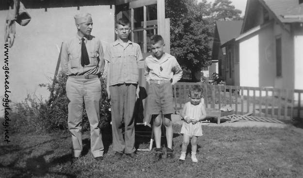 The Yegerlehner boys, July 1944, Liberty, Missouri