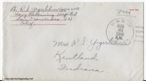 August 20, 1945 envelope