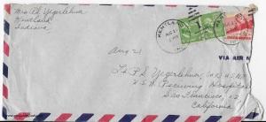 August 21, 1945 envelope