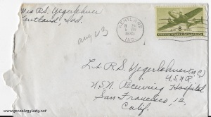 August 23, 1945 envelope