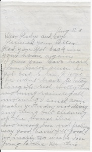 Letter from Lovina, dated August 23, 1945, p. 1