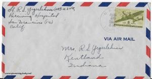 August 25, 1945 envelope