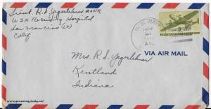 August 26, 1945 envelope