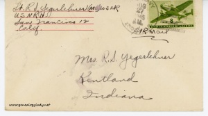 August 27, 1945 envelope