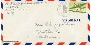 August 28, 1945 envelope