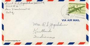 August 29, 1945 envelope