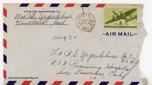 August 30, 1945 envelope