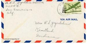 August 31, 1945 envelope