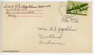 September 3, 1945 envelope