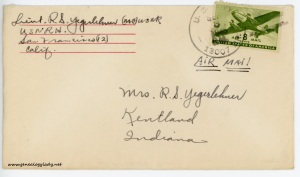 September 3, 1945 envelope
