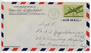 September 4, 1945 envelope