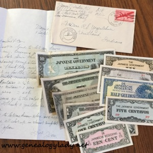 Jim Foster's letter with the enclosed money